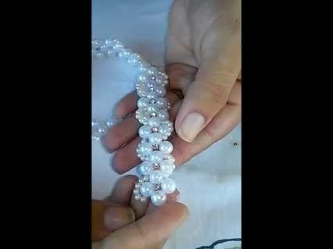 Modelo de Flor com miçangas. - YouTube