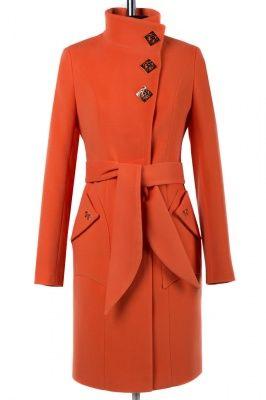 01-6187 Пальто женское демисезонное (пояс) Кашемир Мандарин