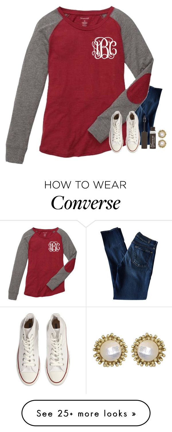 """""""One step closer"""" by mgropp on Polyvore featuring 7 For All Mankind, Converse, Rimmel and Kendra Scott"""