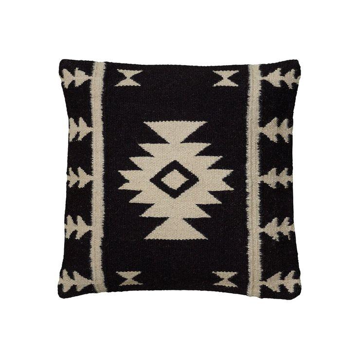 Rizzy Home Southwestern Throw Pillow, Black