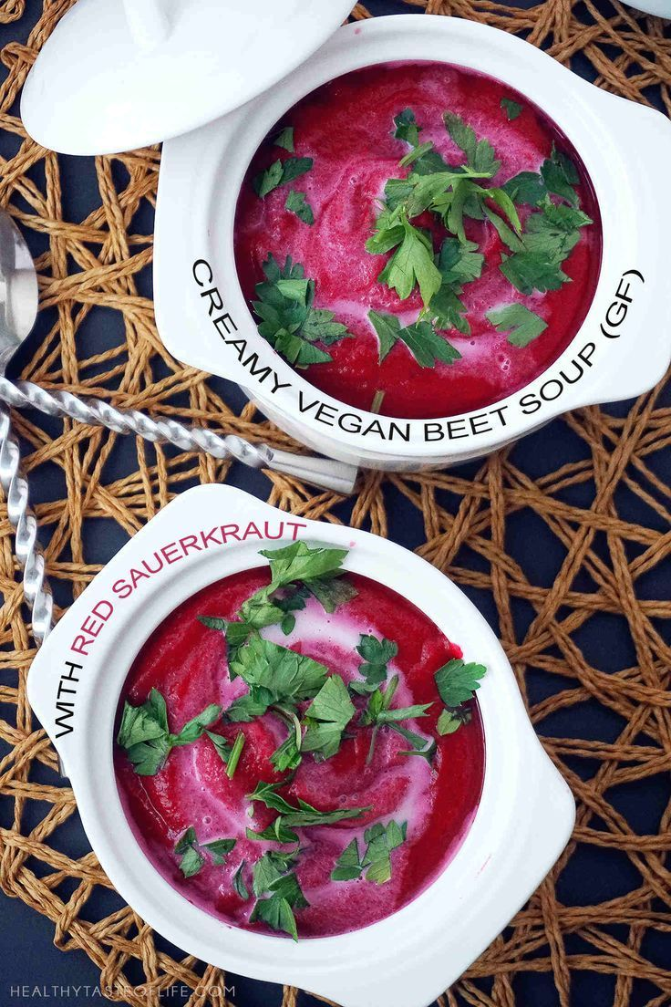 This Delicious Creamy Beet Soup Recipe Is A Simple Vegan