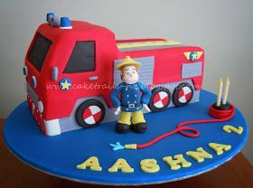 Cake Trails: How to make a fire truck cake {Tutorial}