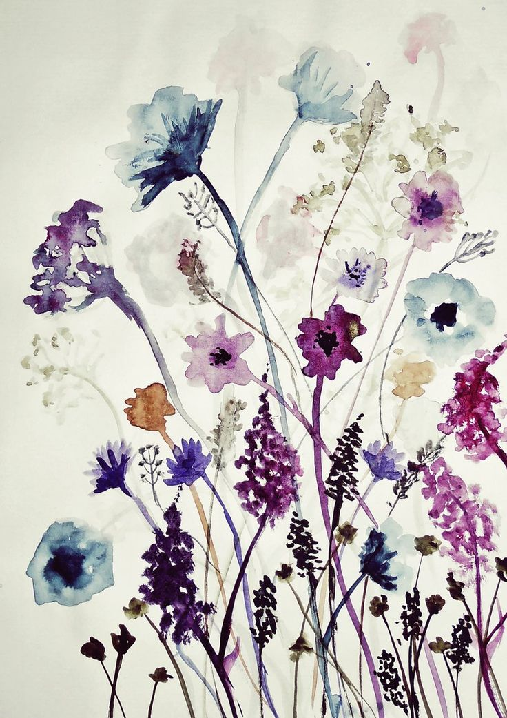 Wild Flowers watercolor, possible tattoo idea