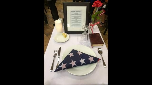 "A local restaurant chain is making sure to honor veterans ahead of, and after, Veterans Day. A Channel 2 Action News viewer sent us a photo of a ""Missing Man"" table set up in honor of veterans at a Chick-fil-A location in Marietta."