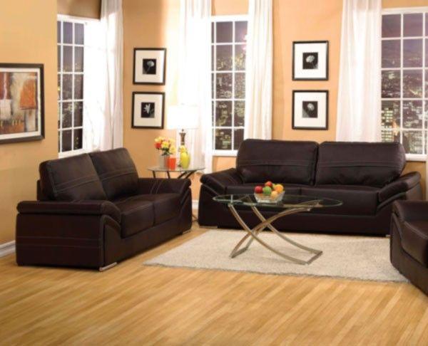 Acme Furniture - Ember 2 Piece Modern Sofa Set in Espresso - 51695-S+L