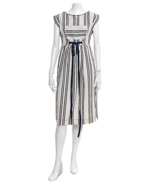 Suno nubby stripe jumper dress