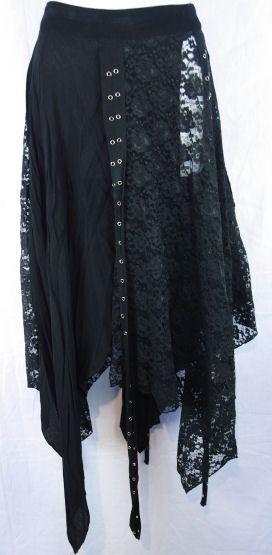 Shrine Black Lace Skirt! Gothic! Industrial! Steam Punk! Fetish! Corset! | eBay