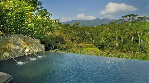 Hotel Losari Coffee Plantation mit Blick auf 8 Vulkane  indonesische Insel Java