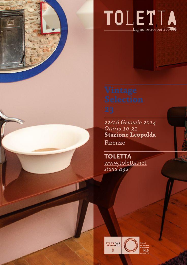 SAVE THE DATE!! TOLETTA bagno retrospettivo in anteprima a Vintage Selection Stazione Leopolda - Firenze 22/26 gennaio 2014