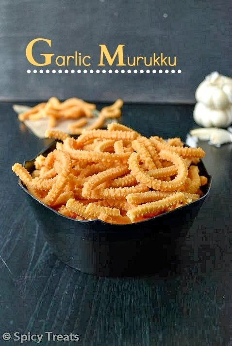 Spicy Treats: Garlic Murukku / Poondu Murukku