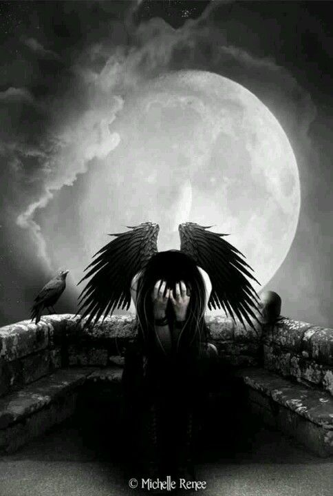 """I MISS YOU "" Dark fallen angel fantasy angels goth gothic"