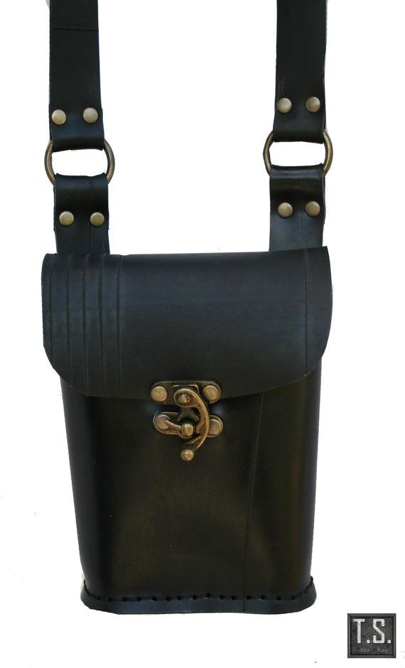 Small Shoulderbag in recycle rubber by TSRUBBERBAGS on Etsy, $80.00