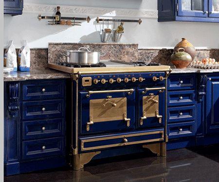 royal blue kitchen design carved wood kitchen cabinets - Blue Kitchen Designs