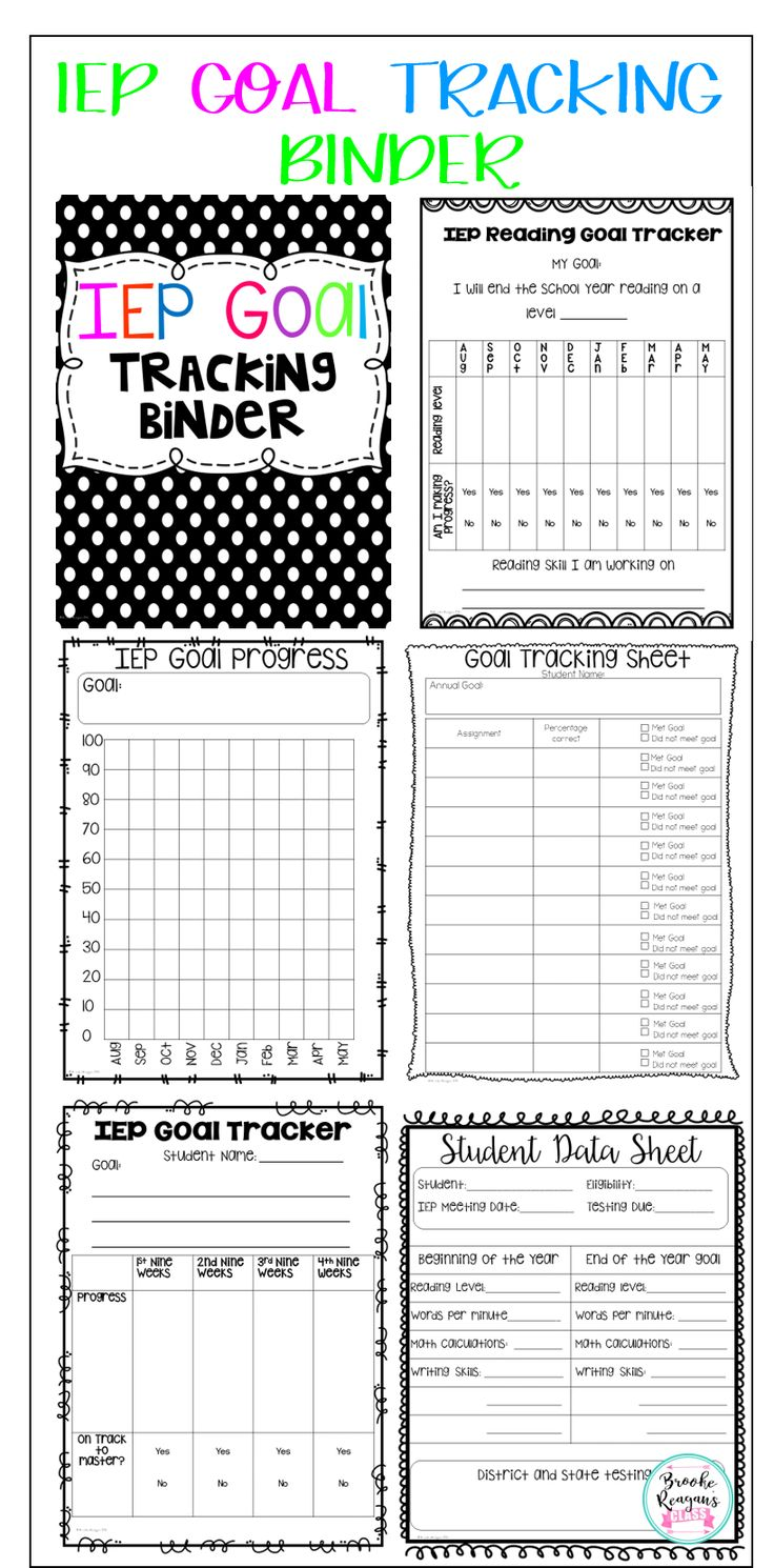 Stay organized with your students data and goal progress with this super easy to use IEP Goal Tracking Binder! Perfect for every special education teacher!