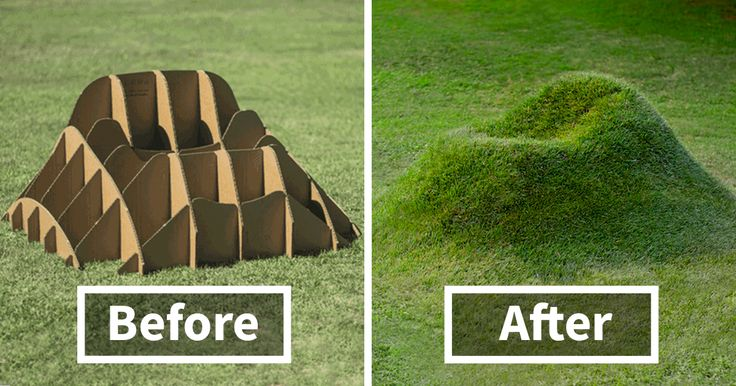 'TERRA grass armchair' by Studio Nucleo lets you grow your own furniture in your backyard. All it takes is a bunch of cardboard frames,…