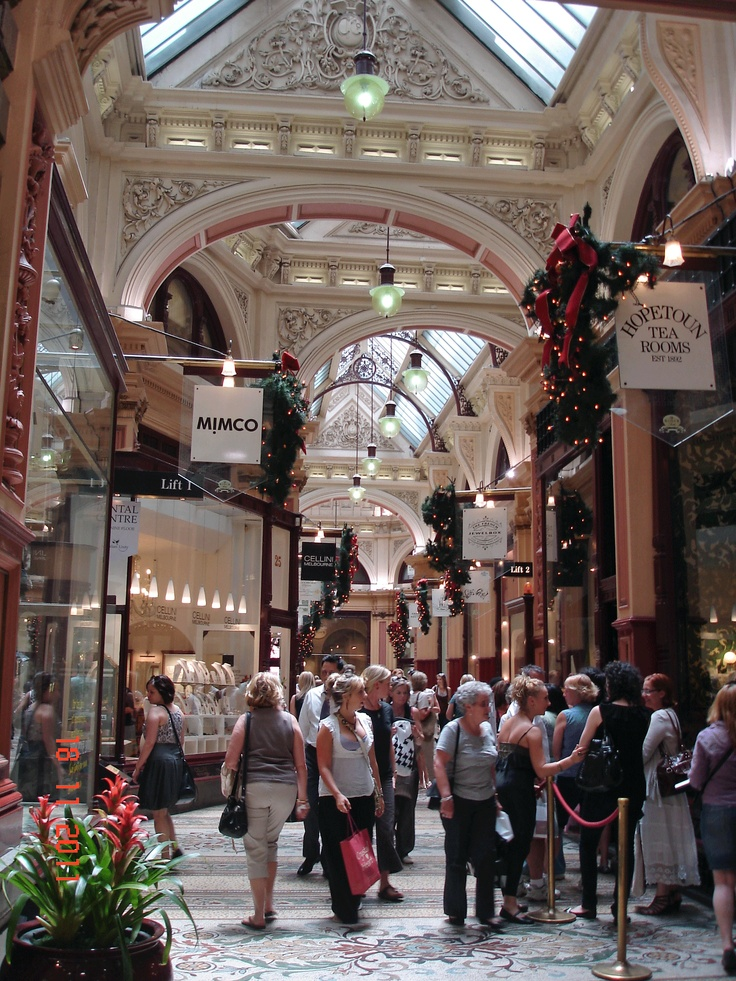 Block Arcade Hopetoun Tea Rooms Melbourne Victoria Australia