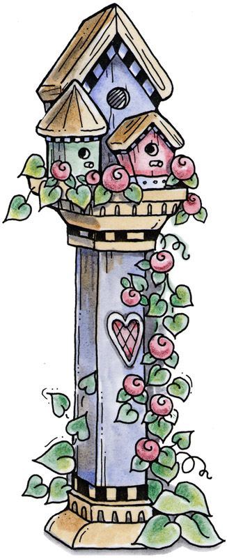 birdhouse country clipart | clipart imagem decoupage Viola's Birdhouse