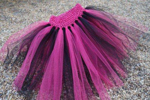 TUTU tylová sukně, sukýnka - černo růžová barva
