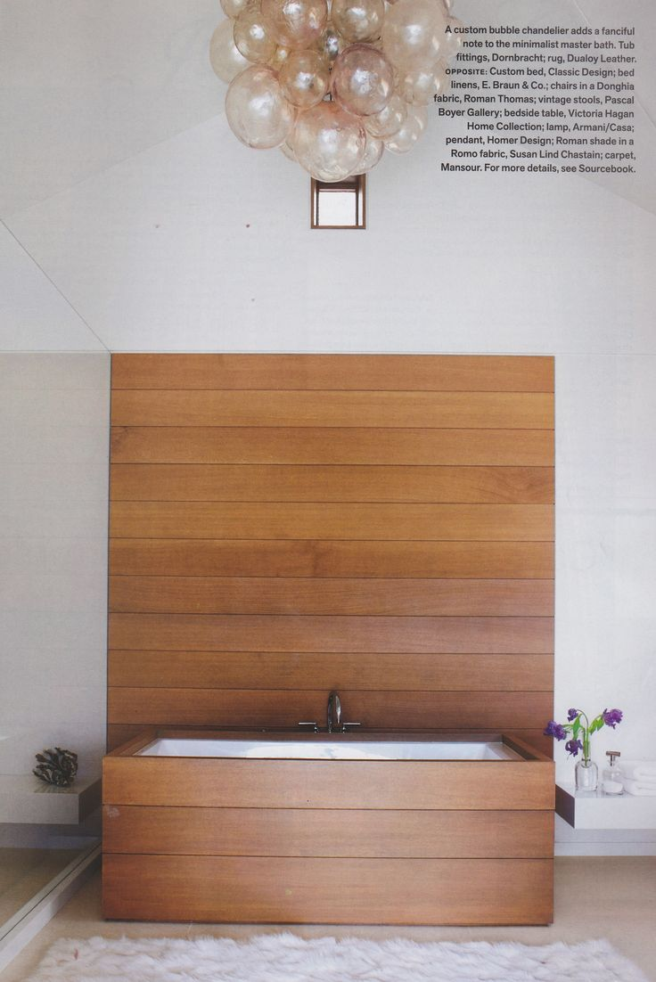 Victoria Hagan Aspen Veranda Magazine Bathroom Wood Wall Tub Surround