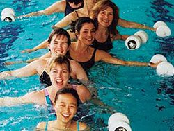 water aerobics - you laugh but there's no better low impact workout. be kind to your joints!