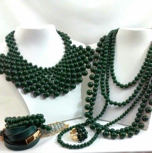 Maxi Colar  Verde Militar