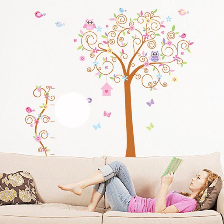 17 melhores ideias sobre adesivos de parede de rvore no for Decalque mural