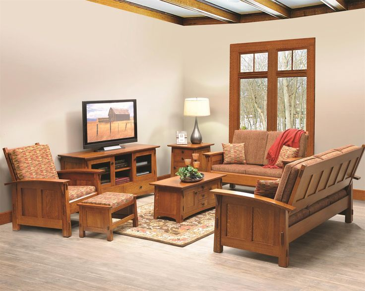 #Live A Little (or A Lot) In Our Goshen #Shaker Living Room · Amish  FurnitureLiving ...