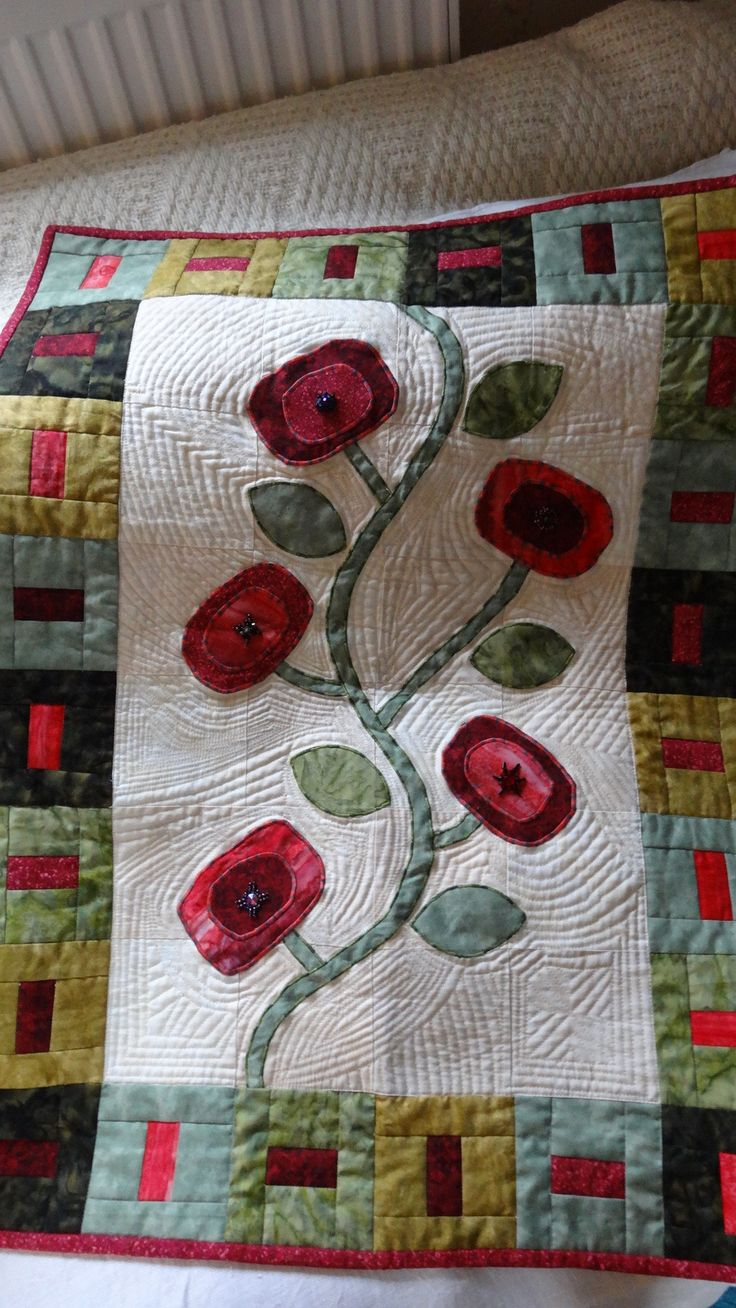 *Flower Pops* Wall hanging quilt, made for my darling mother and father in-law. Love them to bits.   This wall hanging was inspired by a pattern in Kim Schaefers *Skinny Quilts* book. Brilliant book, which I have no doubt, will get used time and time again.