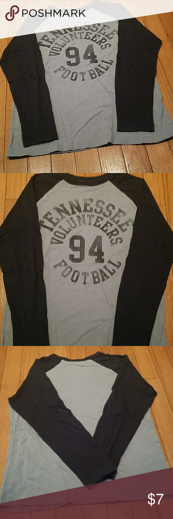 Tennessee Football T-shirt Boys Youth Gray University of Tennessee T-shirt Shirts & Tops Tees - Long Sleeve