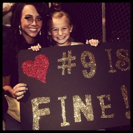 Football game sign for boyfriend :)...@Style Space & Stuff Blog Reece THAT LITTLE GIRL LOOKS LIKE ANNA!