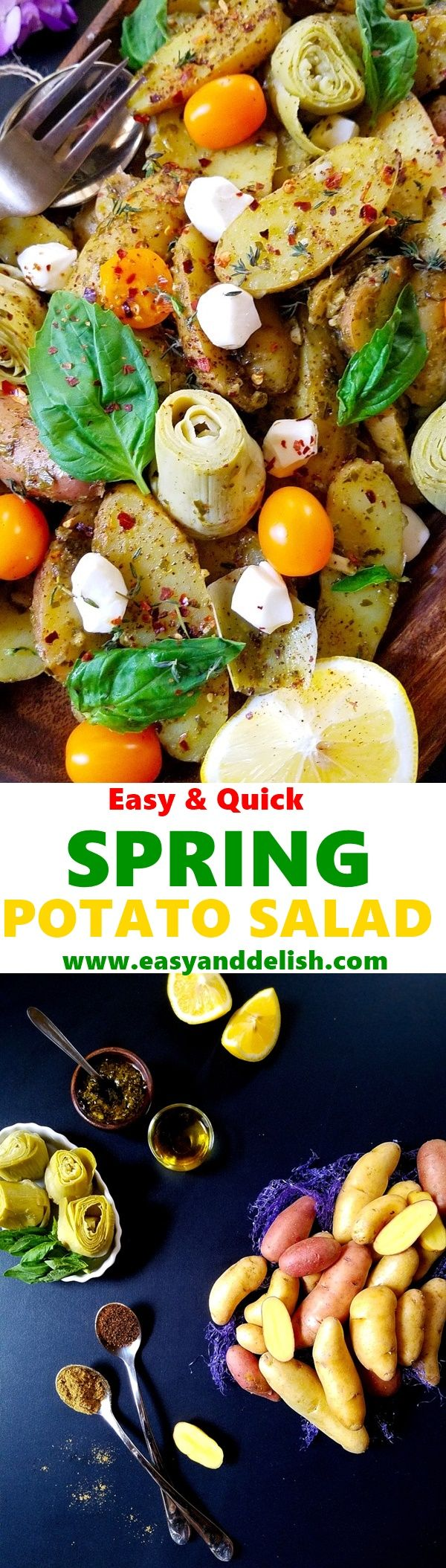 Love potato salad? We got you covered with this nutritious, easy and delish Spring Potato Salad that can be prepared in less than 30 minutes.  #beholdpotatoes #Icantbelieveitspotatoes