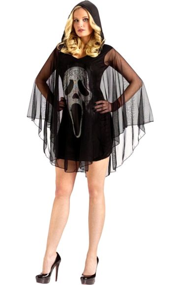 Adult Ghost Face Scream Poncho | Jokers Masquerade