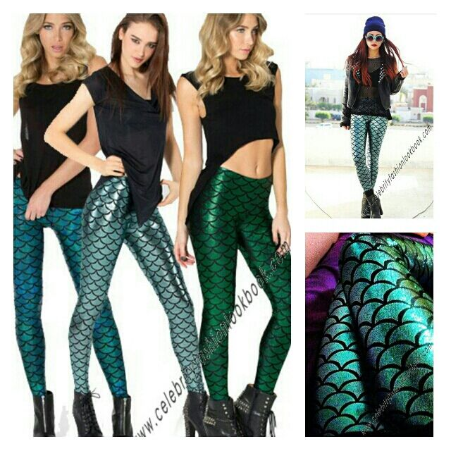 Look ultra sexy in these stylish Metallic Mermaid Leggings http://celebrityfashionlookbook.com/catalogsearch/result/?q=leg17 #fashion #leggings #celebritylook  #streetchic #trendy