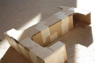 DIY cardboard letters.