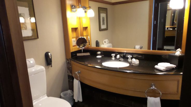 Bathroom at the Langham Auckland Hotel in New Zealand
