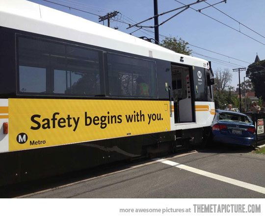 when hit by irony: Safety, Fail, Irony, Funny Stuff, Humor, Funnies, Things