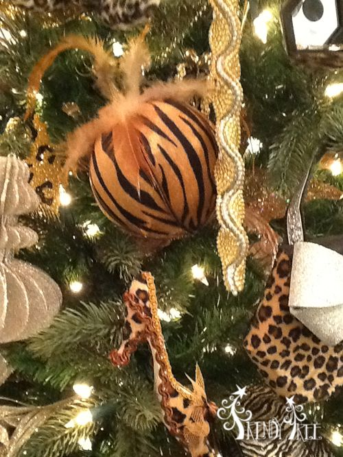 Animal print ball ornaments  from the 2013 RAZ Christmas Catwalk Collection. See more of this collection at http://www.trendytree.com  #trendytree #raz