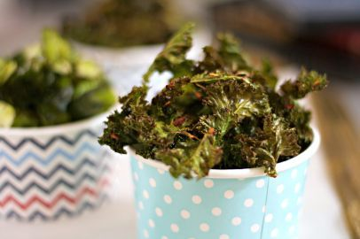 brussel sprouts and kale chips
