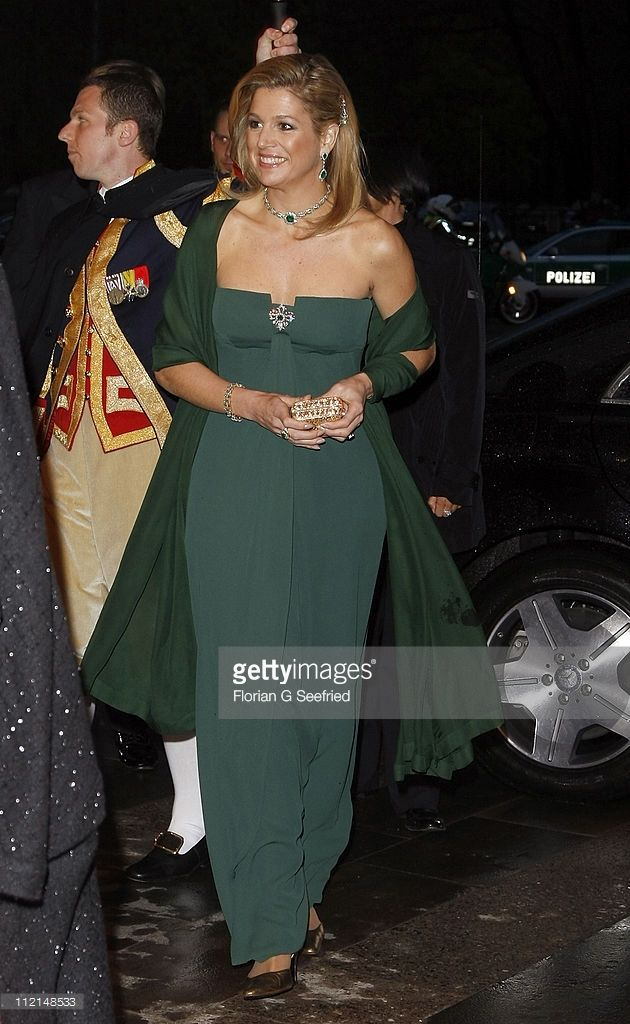 Princess Maxima arrives for the performance of the Dutch Royal Concert Orchestra at the Berlin Philharmonic on April 13, 2011 in Berlin, Germany. The Dutch royals are on a four-day visit to Germany that includes stops in Berlin, Dresden and Duesseldorf.  (Photo by Florian G Seefried/Getty Images)