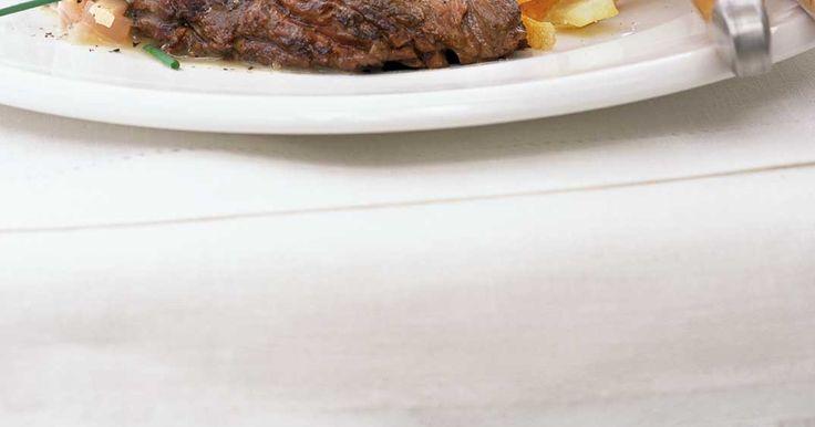 Bavette à l'échalote et frites maison