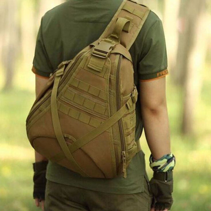 Tactical Single Shoulder Sling Molle Army Military Travel Bags //Price: $72.99 & FREE Shipping //     #tacticalgear #survivalgear #tactical #survival #edc #everydaycarry #tacticool #hunting #camping #outdoors #pocketdump #knives #knifeporn  #knife #army #gear #freedom #knifecommunity #airsoft