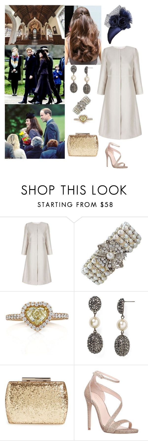 """""""Sunday Service at St Mary Magdalene Church"""" by duchessofoxfordshire ❤ liked on Polyvore featuring Mark Broumand, Kenneth Jay Lane, Glint and Carvela"""