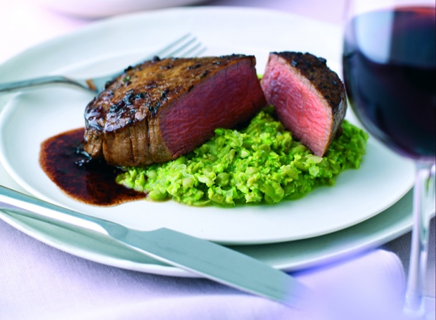 rare fillet steak