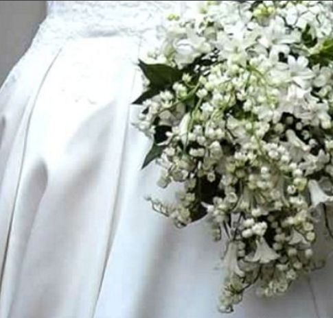 Kate's vintage bouquet,lily-of-the-valley & stephanotis, magical charm of an English garden!
