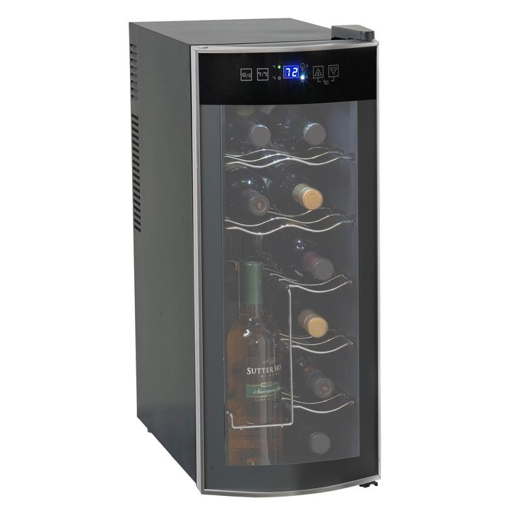 Avanti Wine Cooler 12 Bottle Refrigerator Refrigerators Wine Fridge Storage Unit Use this amazing Avanti Wine Cooler top keep your favorite wines chilled & ready-to-serve with. This sleek black wine refrigerator features a curved glass door to add a modern look to your kitchen or bar area and can hold up to twelve(12) standard-size bottles. Featuring a soft-touch digital display and sophisticated thermoelectric cooling system, this wine cooler gives you complete & constant control over the…