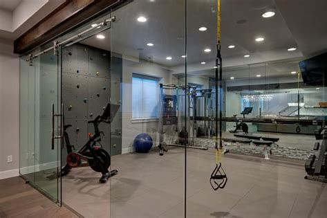 glass enclosed home gym  bing images  basement workout
