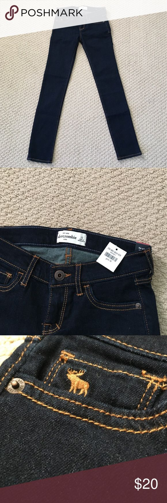 BNWT abercrombie kids • Girl's Super Skinny Sz 10 These girls super skinny jeans are from abercrombie kids and are a classic dark blue color. They're brand new with tags and are super cute! The perfect 'go-to' denim. Size 10 abercrombie kids Bottoms Jeans