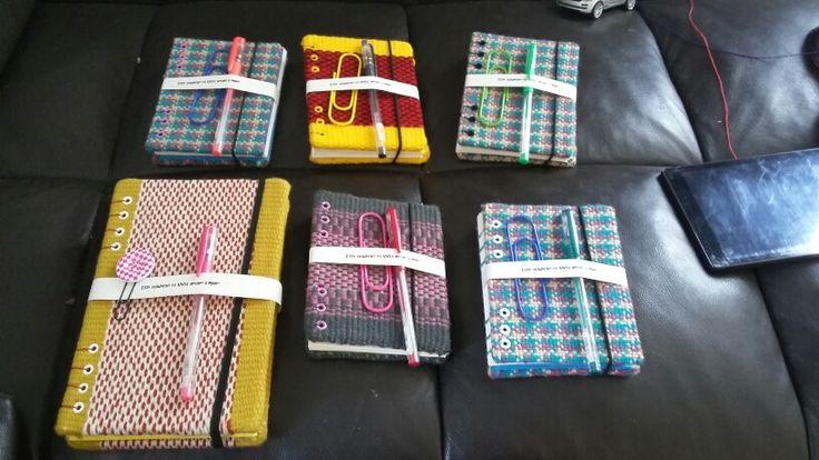 Cuaderno forrados en textil mapuche
