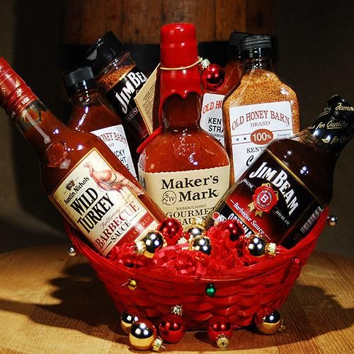 bbq gift basket | Kentucky Bourbon BBQ Gift Basket (Item# 130)