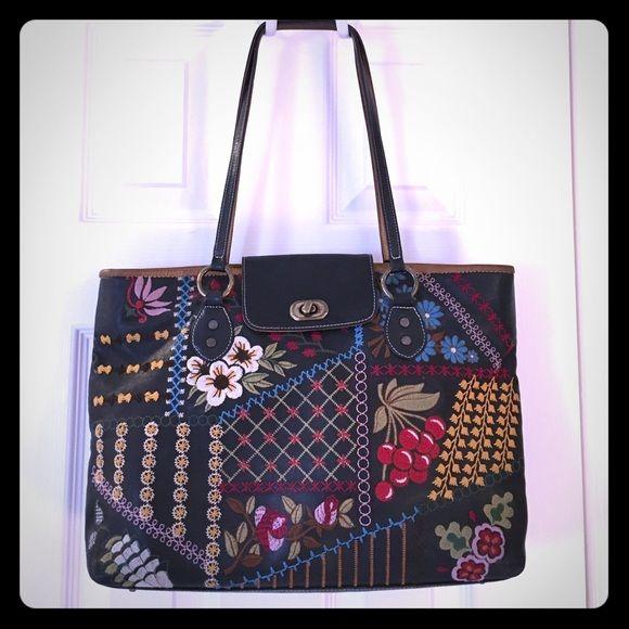 Isabella Fiore satchel Good condition, embroidered Isabella Fiore purse. *FOR SALE ONLY* Isabella Fiore Bags Satchels